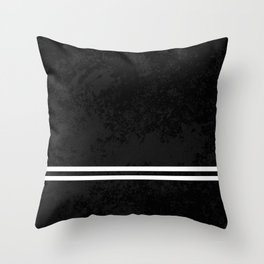 Infinite Road - Black And White Abstract Throw Pillow