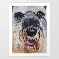 schnauzer Art Prints featuring Schnauzer by Doggyshop