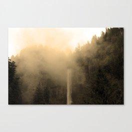 Foggy Multnomah Falls Canvas Print