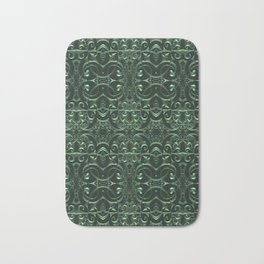 Emerald Celtic Goth Pattern Bath Mat