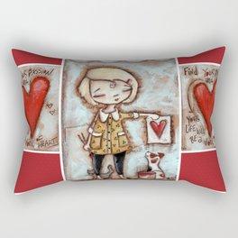 Work of Heart by Diane Duda Rectangular Pillow