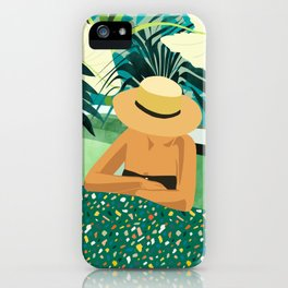 Chill #illustration #travel iPhone Case
