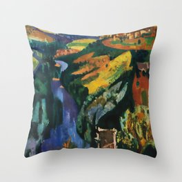 Auvergene Travel Poster Throw Pillow