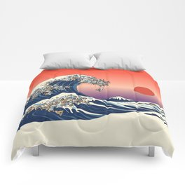 The Great Wave of English Bulldog Comforters