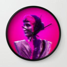 Vaporwave Glow Wall Clock