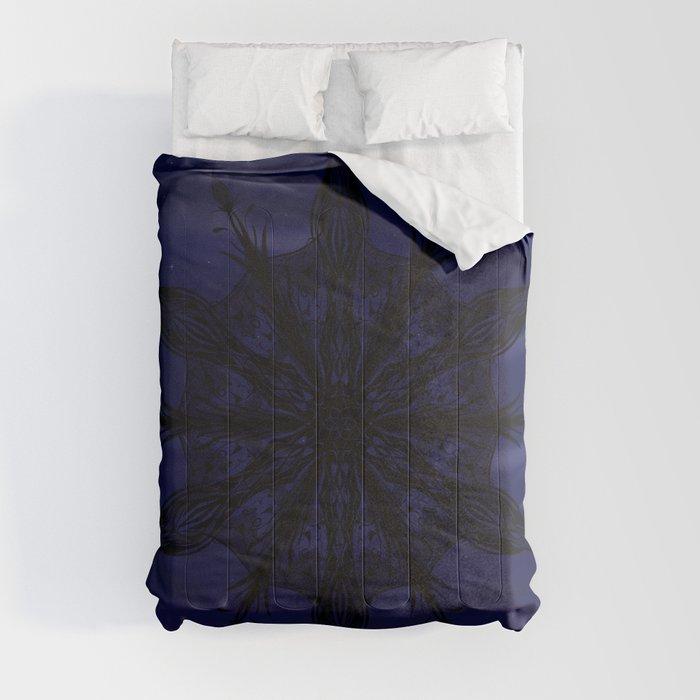 Gothic Snowflake Silhouette Comforters
