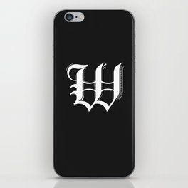 Letter W iPhone Skin