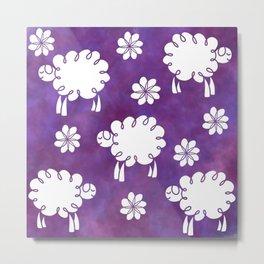 Cotton Candy Sheep - LaurensColour Metal Print
