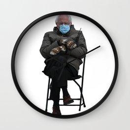 Bernie Sanders Sitting Meme  Wall Clock