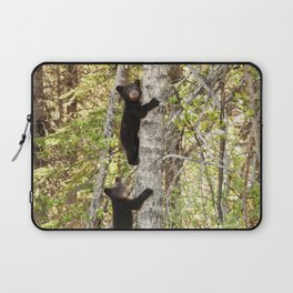 Baby Bears in a Tree Photography Print Laptop Sleeve