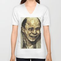 princess bride V-neck T-shirts featuring Vizzini from Princess Bride by Aaron Bir