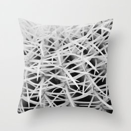 Painterly Spikes Throw Pillow