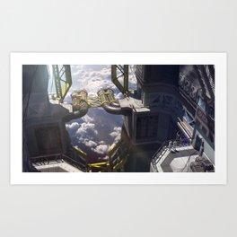 Sci-fi Factory Art Print