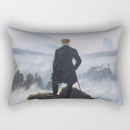 Caspar David Friedrich - Wanderer above the sea of fog Rectangular Pillow