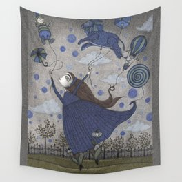 Violetta Dreaming Wall Tapestry