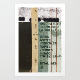 Spanish Calendar Art Print