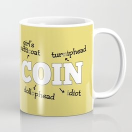 Same Coin - Yellow Coffee Mug
