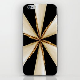 Black, White and Gold Star iPhone Skin