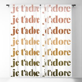 je t'adore in earthy colors Blackout Curtain