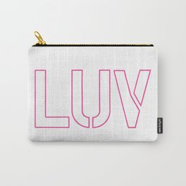 LUV Pink Carry-All Pouch