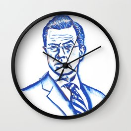 Stephen Colbert in Blue Wall Clock