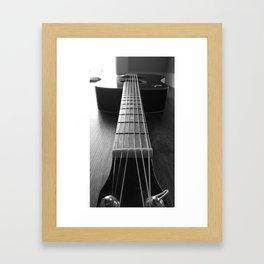 Guritar neck Framed Art Print