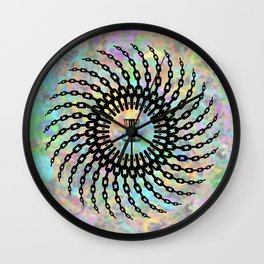 Disc Golf Basket Chains Wall Clock