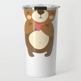 Valentine   I Love You Beary Much Travel Mug