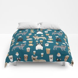 French Bulldog coffee pupuccino dog breed gifts frenchies must haves Comforters