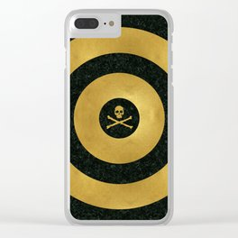 Gold Leaf Target Clear iPhone Case