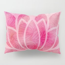 Zen Watercolor Lotus Flower Yoga Symbol Pillow Sham