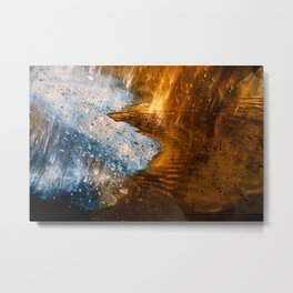Abstract Acrylic Blizzard Metal Print