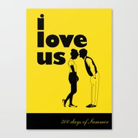 500 days of summer Canvas Prints featuring 500 days of Summer by Renata Scartoni
