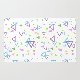 Abstract triangles pattern with triangular Rug