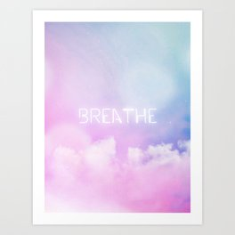 Breathe - candy sky Art Print