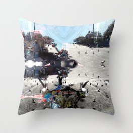 Summer space, smelting selves, simmer shimmers. [extra, 7] Throw Pillow