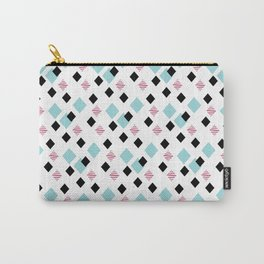 Jeweltoned Diamond Geometric Carry-All Pouch