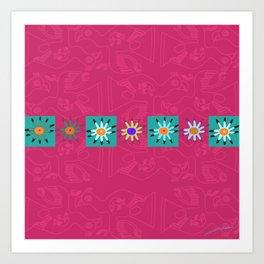 Paracas flowers Art Print