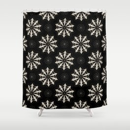 Wolf Skull Repeat Pattern Shower Curtain