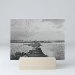 Storm in the beach Mini Art Print
