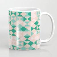 emerald Mugs featuring Emerald  by Leandro Pita