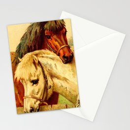 Horse Tails 1924 - 2 Stationery Cards