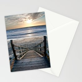 Steps to the Ocean Stationery Cards