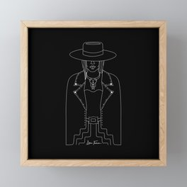 Lady Outlaw Framed Mini Art Print