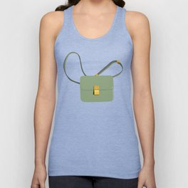 Her Daily hand bag, bag illustration, fashion illustration, girly art print Unisex Tank Top
