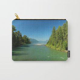 Green Waters Of McDonald River And Lake Carry-All Pouch