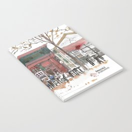 Sunnyvale Downtown Cafe Art Print Notebook