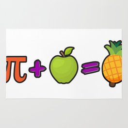 Pineapple Pi Science Geek Mathematics Symbol Humor Rug