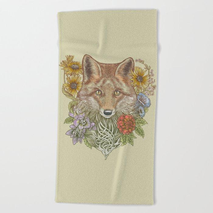 Fox Garden Beach Towel