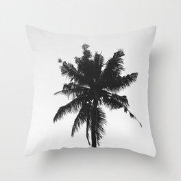 Palm, Tree, Nature, Tropical, Modern, Minimal, Interior, Wall art Throw Pillow